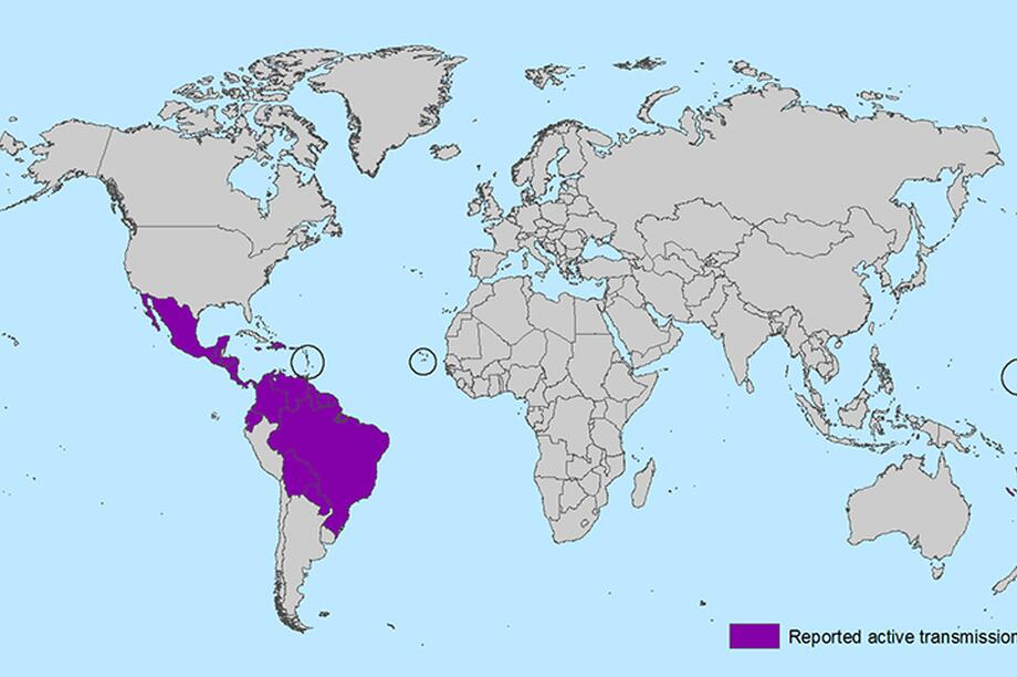 Zika-Virus world map